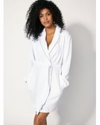 fbace381b7 Lyst - Beckham Bodywear Nepped Dressing Gown in Gray