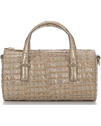 a6a65b72036d Lyst - MICHAEL Michael Kors Gold Croc Embossed Leather Gia Tote in ...