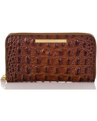 Brahmin - Melbourne Collection Suri Croco-embossed Wallet - Lyst