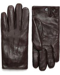 Brioni - Dark Brown Nappa Gloves - Lyst
