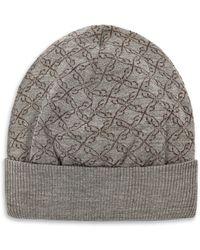 Brioni - Grey Logo Pattern Hat - Lyst