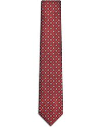 Brioni - Bordeaux And Grey Tie - Lyst