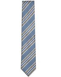 Brioni - Sky Blue And Grey Regimental Tie - Lyst