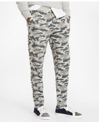 Brooks Brothers - French Terry Camo Joggers - Lyst