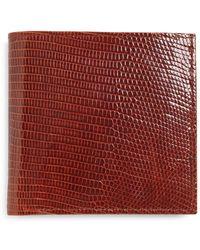 Brooks Brothers - Lizard Euro Wallet - Lyst