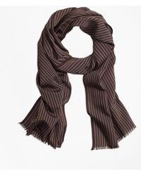 Brooks Brothers - Double-pinstripe Scarf - Lyst