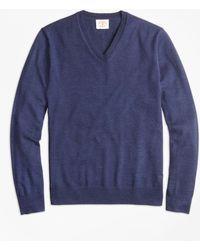 Brooks Brothers - Merino Wool V-neck Jumper - Lyst