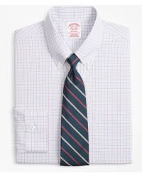 Brooks Brothers - Madison Classic-fit Dress Shirt, Non-iron Triple Overcheck - Lyst