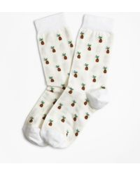 Brooks Brothers - Pineapple-pattern Stretch-cotton Socks - Lyst
