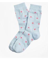 Brooks Brothers - Pinwheel Cotton Crew Socks - Lyst