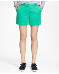 Brooks Brothers - Stretch Cotton Twill Shorts - Lyst