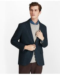 Brooks Brothers - Two-button Wool-blend Herringbone Sport Coat - Lyst