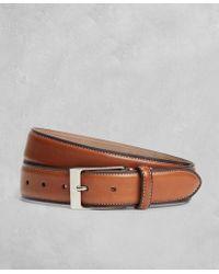 Brooks Brothers - Golden Fleece® Side Stitch Leather Belt - Lyst