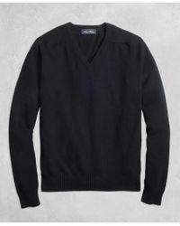 Brooks Brothers - Golden Fleece® 3-d Knit Cashmere V-neck Jumper - Lyst