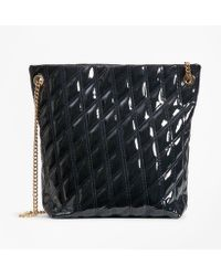 Brooks Brothers - Quilted Patent Leather Shoulder Bag - Lyst
