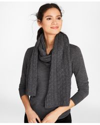 Brooks Brothers - Cable-knit Merino Wool Scarf - Lyst