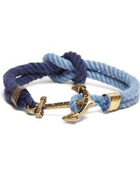 Brooks Brothers - Kiel James Patrick Navy And Blue Triton Bracelet - Lyst