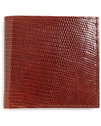 Brooks Brothers - Lizard Euro Wallet - Lyst