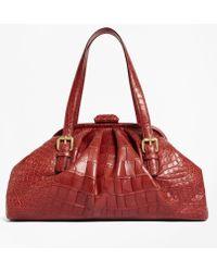 Brooks Brothers | Alligator Soft Frame Bag | Lyst
