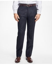 Brooks Brothers - Regent Fit Stretch Flannel Trousers - Lyst