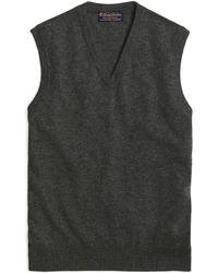 Brooks Brothers - Cashmere Sweater Vest-basic Colors - Lyst