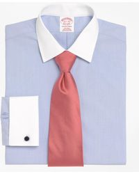 Brooks Brothers   Non-iron Madison Fit Contrast Ainsley Collar French Cuff Dress Shirt   Lyst