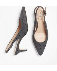 77078e8e2c8c0 Brooks Brothers - Polka-dot Sling-back Kitten Heel Court Shoes - Lyst