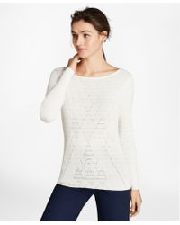 Brooks Brothers - Argyle Cotton-blend Sweater - Lyst