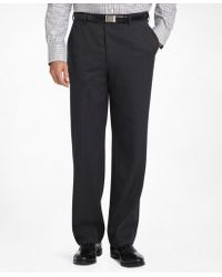 Brooks Brothers - Madison Fit Plain-front Classic Gabardine Trousers - Lyst