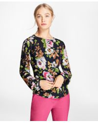 Brooks Brothers - Floral-print Georgette Blouse - Lyst