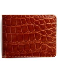 Brooks Brothers - Slim Alligator Wallet - Lyst