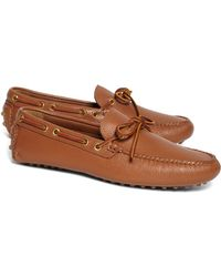 Lyst - Brooks Brothers Rancourt Co Beef Roll Penny Loafers in Brown ... f16142a1c47