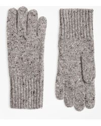 Brooks Brothers - Merino Wool Donegal Knit Gloves - Lyst