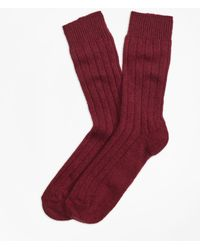 Brooks Brothers - Ribbed Cashmere Dress Socks - Lyst