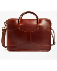 Brooks Brothers | J.w. Hulme Leather Overnight Briefcaseÿ | Lyst