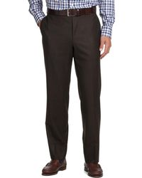 Brooks Brothers - Fitzgerald Fit Plain-front Flannel Dress Trousers - Lyst