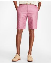 Brooks Brothers - Linen And Cotton Bermuda Shorts - Lyst