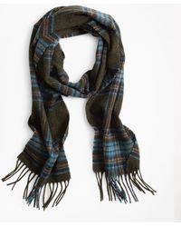 Brooks Brothers - Blue Plaid Scarf - Lyst