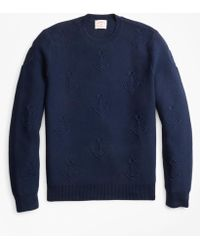 Brooks Brothers - Anchor-embroidered Crewneck Jumper - Lyst