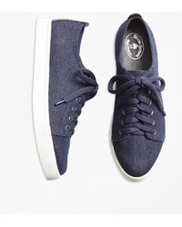 Brooks Brothers - Denim Sneakers - Lyst