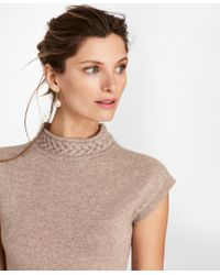 Brooks Brothers - Cashmere Braided Mockneck Shell - Lyst