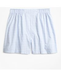 Brooks Brothers - Traditional Fit Check Boxers - Lyst