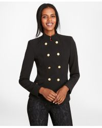 Brooks Brothers - Petite Stretch Wool Cavalry Twill Double-breasted Jacket - Lyst