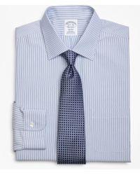 Brooks Brothers   Regent Fitted Dress Shirt, Non-iron Tonal Framed Stripe   Lyst