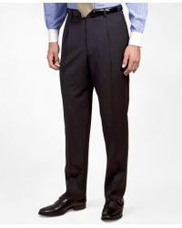 Brooks Brothers - Pleat-front Suiting Essential Stripe Trousers - Lyst