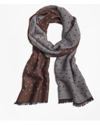 Brooks Brothers - Contrast Polka Dot Scarf - Lyst
