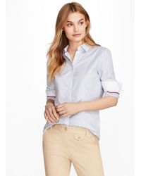 Brooks Brothers - Nine-to-nine Dobby Stripe Stretch Cotton Shirt - Lyst