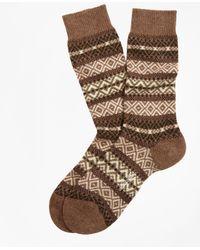 Brooks Brothers - Cashmere Fair Isle Crew Socks - Lyst