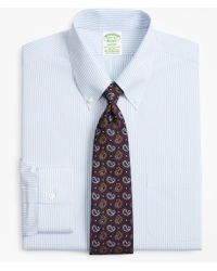 Brooks Brothers - Stretch Milano Slim-fit Dress Shirt, Non-iron Tonal Framed Stripe - Lyst
