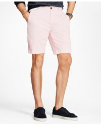 "Brooks Brothers - Garment-dyed Stretch Chino 9"" Shorts - Lyst"